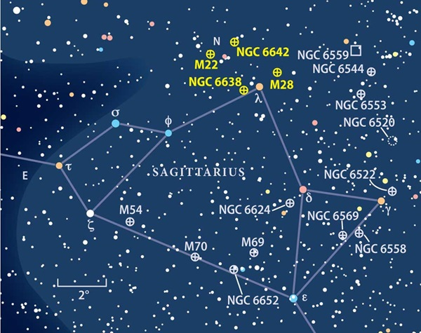Sagittarius finder map