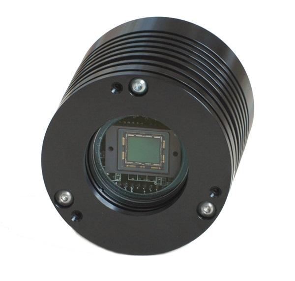 The Starlight Xpress Trius-SX694 CCD camera measures less than 3 inches (76 millimeters) on a side and weighs only 14.1 ounces (400 grams).