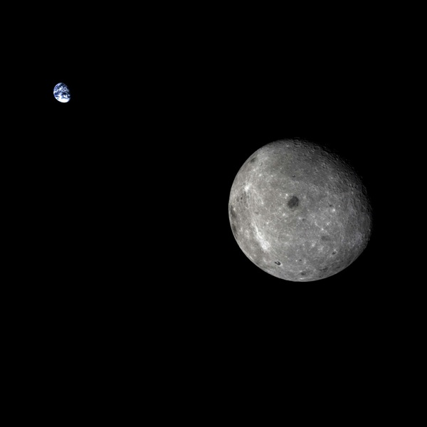 Earth and the farside of the Moon