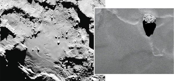 The Rosetta spacecraft spotted this boulder on Comet 67P back in September 2014.