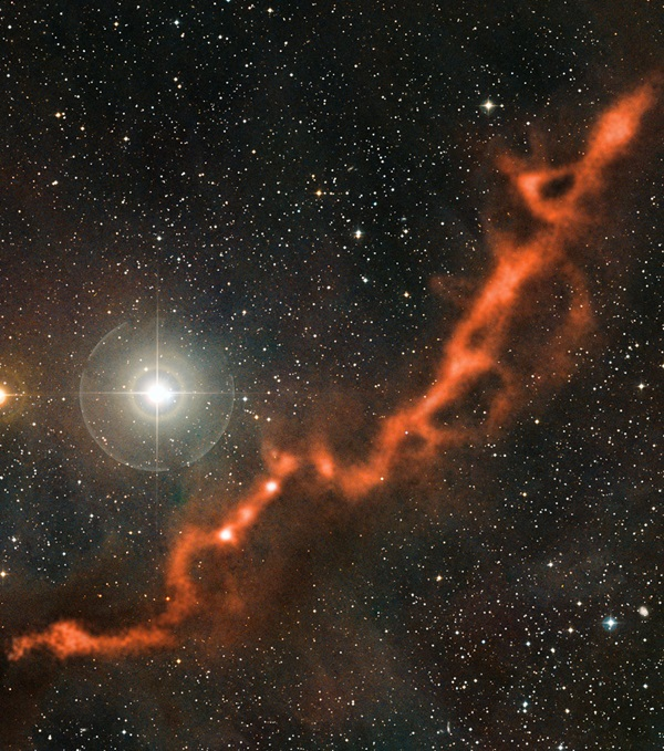 filament of cosmic dust