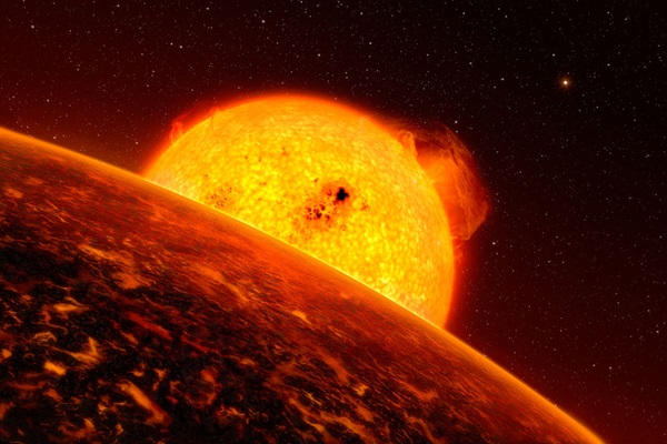 artist's impression of exoplanet Corot-7b