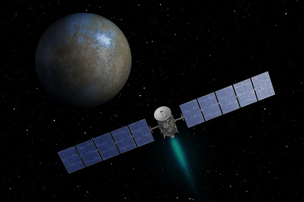 Illustration of Dawn at Ceres