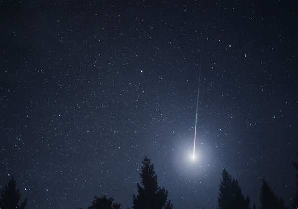 A bright Leonid fireball