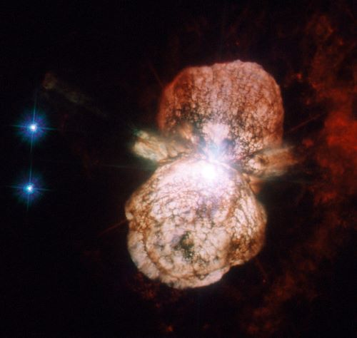 Artist's impression of Eta Carinae supernova