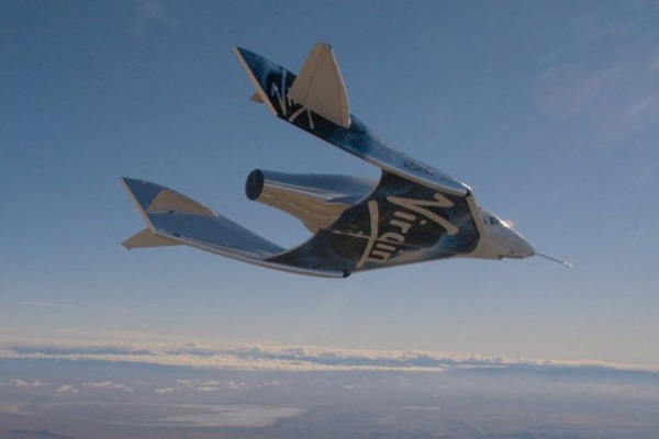 SpaceShipTwo during a flight test