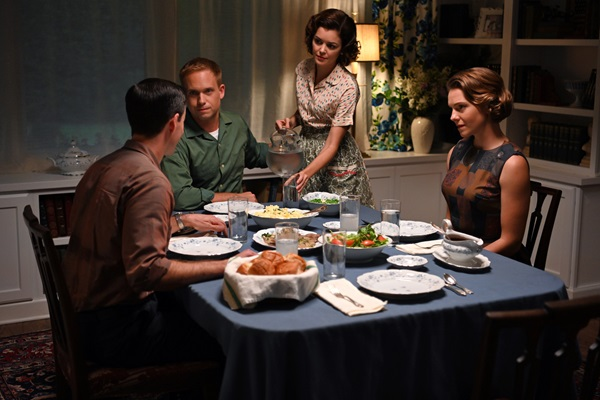 The Glenns and Coopers enjoy dinner in The Right Stuff