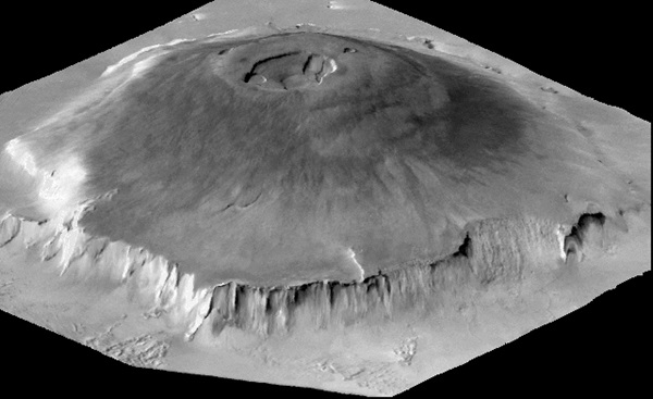 A 3D map of Olympus Mons