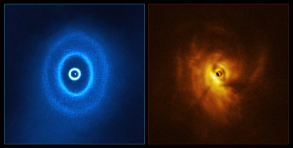 Two images of GW Orionis