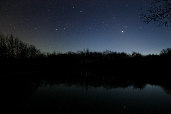 Venus shines brilliantly in the southeast before dawn this month.