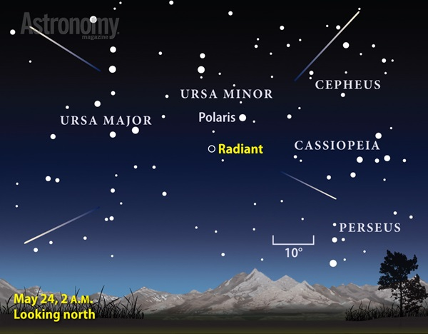 The year's best meteor shower could occur May 24, 2014.