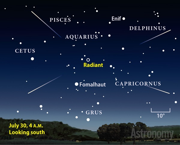 Conditions shoud be ideal in late July 2014 for the Southern Delta Aquariid meteor shower.