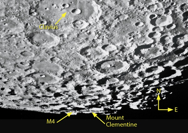 Mount Clementine stands out on the Moon's farside.