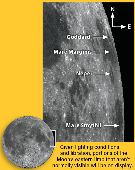 A map of the Moon's eastern limb