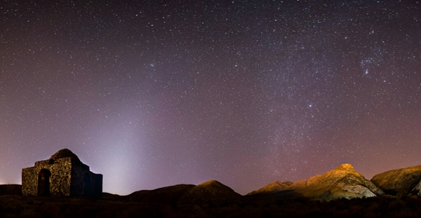 Zodiacal light over Iran