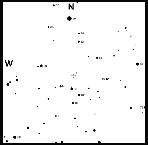 Variable star map