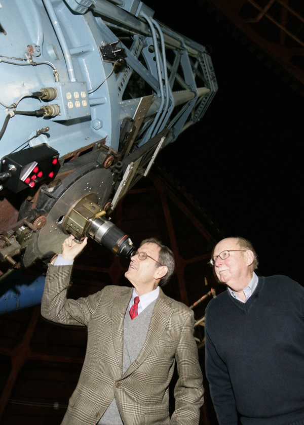 Hale brothers look through Mount Wilson 60-inch telescope