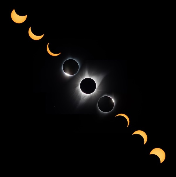 since the sun and moon move from east to west why did the eclipse