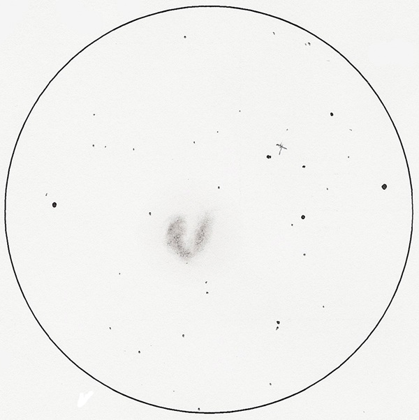 This is original scan of Antennae (NGC 4038/9) sketch.