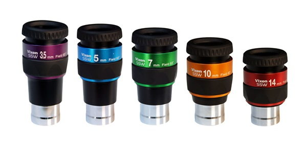 Vixen's SSW ED Ultra Wide Eyepieces