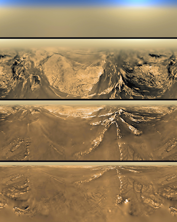 The terrain of Titan as Huygens descended
