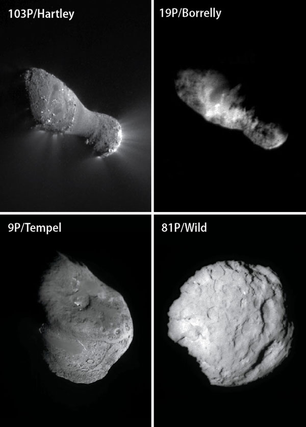 Photos Of Recent Comet Flybys Show Their Nuclei To Be
