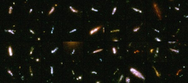 "Galaxies not disk-shaped or elliptical, are often referred to as ""tadpole"" galaxies."