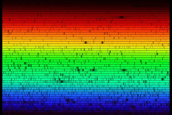 "The Sun's spectrum contains thousands of dark ""absorption"" lines."