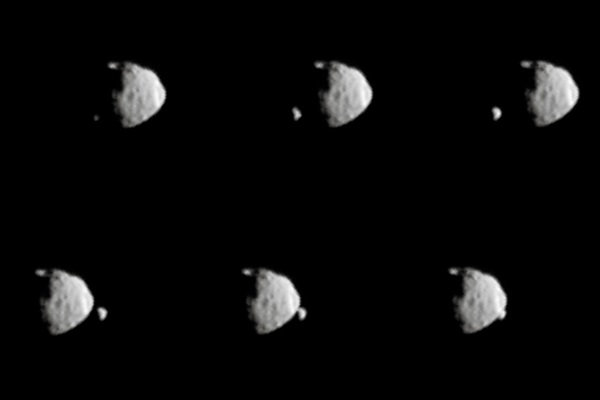 On the martian surface, would the moons Deimos and Phobos ...