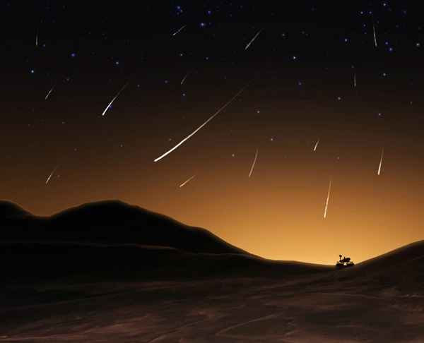 Comet Siding Spring illustrated