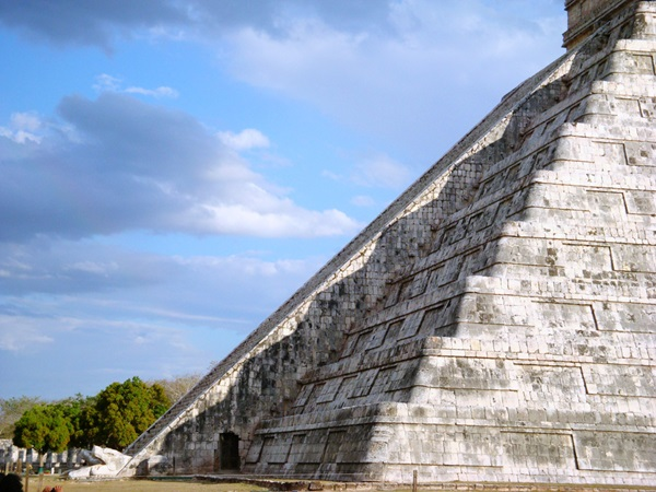 The Mayan snake god Kukulkan's shadow appears to slither down the stairs at Chichen Itza during the equinox.