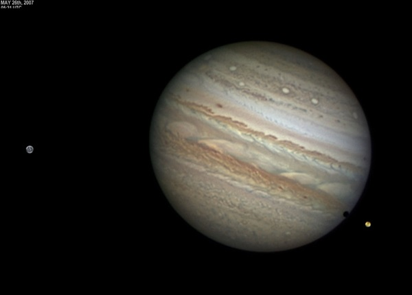Jupiter, Ganymede, and Io