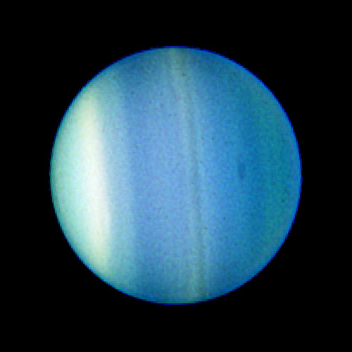 First visible dark spot on Uranus, which indicates strong winds