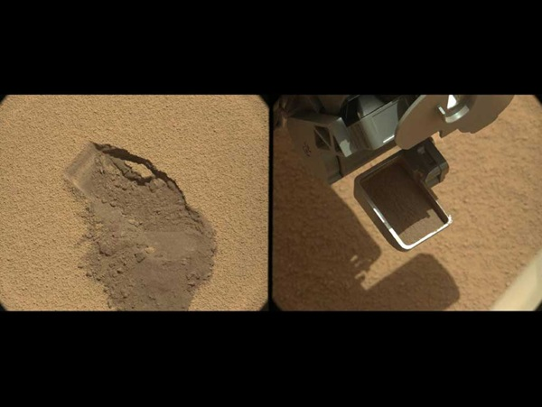 Scoop-of-martian-soil