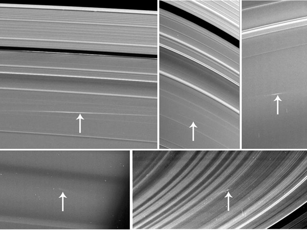 Meteoroid impacts on Saturn's rings