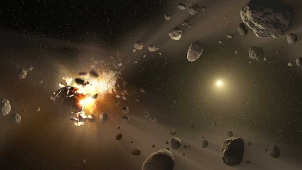 Asteroid families in the belt between Mars and Jupiter