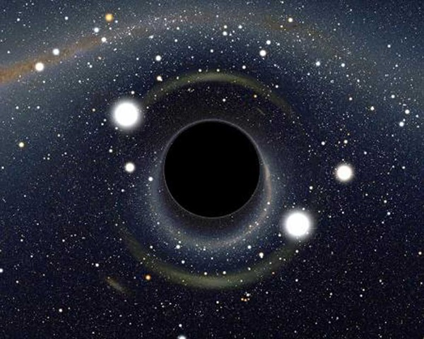 Light distortions created by a black hole