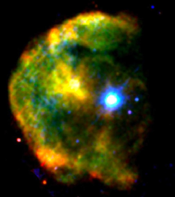 X-ray image of the CTB 109 supernova remnant