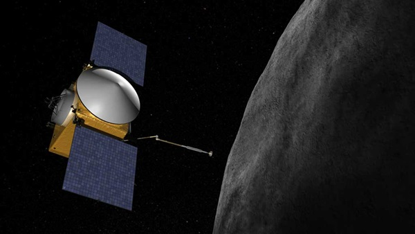 OSIRIS-REx spacecraft and asteroid Bennu