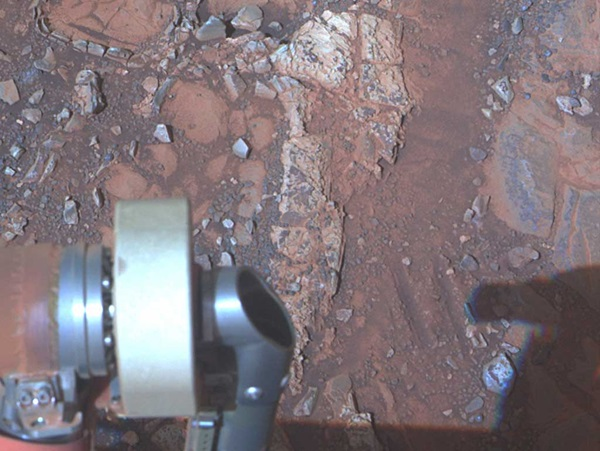 Mars rover Opportunity examined clay clues in a rock called Esperance