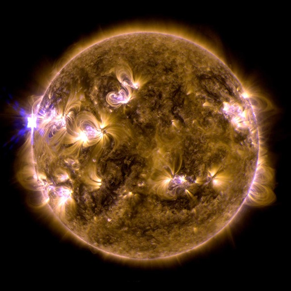 The Sun erupted with an X1.7-class solar flare.