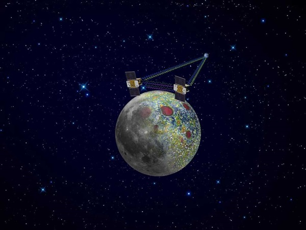 Twin GRAIL spacecraft mapping Moon's gravity field