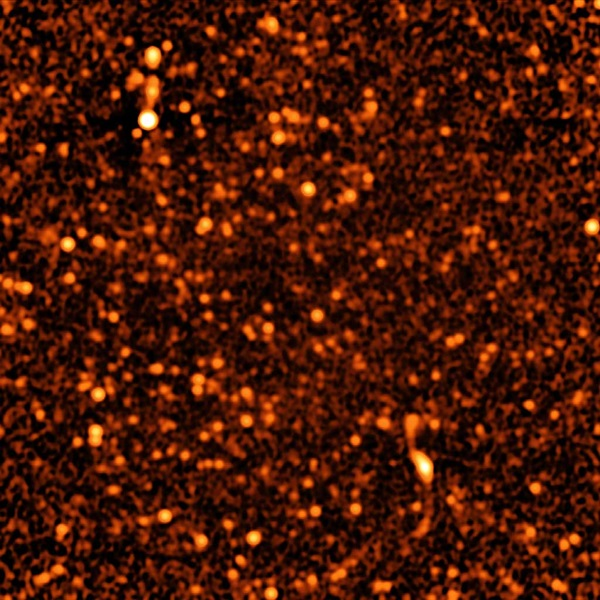 VLA image of distant galaxies