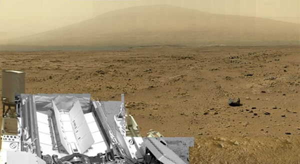 View of Mars by Curiosity rover