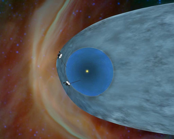 Voyager spacecraft exploring heliosheath