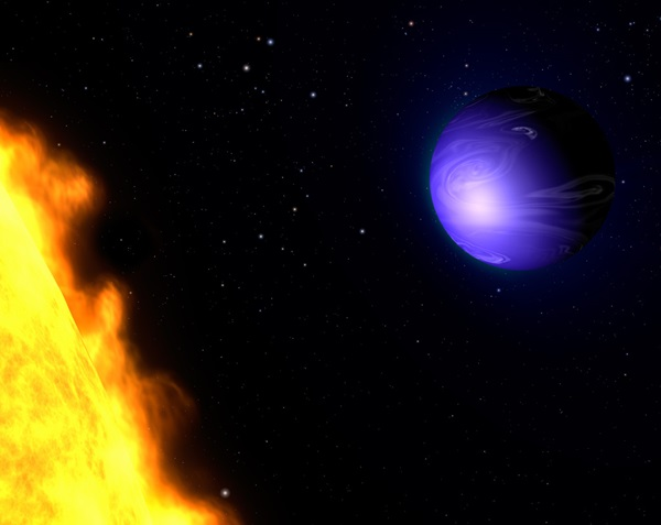 Blue exoplanet HD 189733b