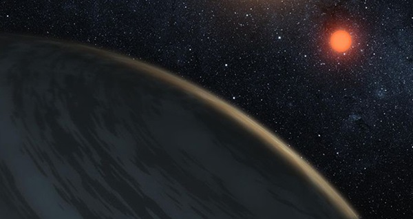 Planet orbiting a red dwarf star