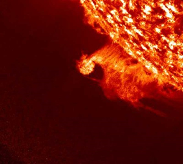 Rotating disk in solar prominence