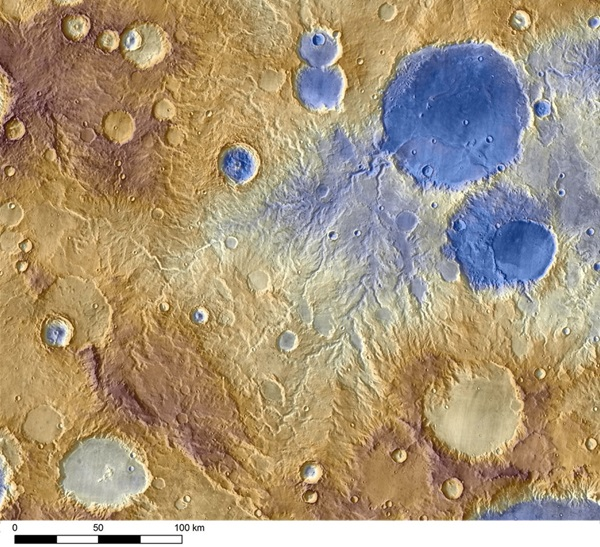 Water carved valleys on Mars