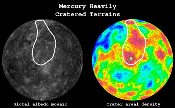 mercury cratered terrain